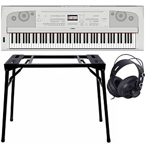 Yamaha DGX-670 Portable Grand Weiß + Keyboard-ständer (DPS-10) & Kopfhörer