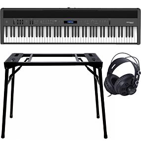 Roland FP-60X Schwarz + Keyboard-ständer (DPS-10) & Kopfhörer
