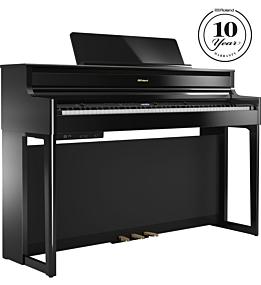Roland HP704 Digitalpiano Schwarz Poliert