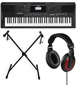 Yamaha PSR-EW410 + X-Stand + Kopfhörer (Hama)