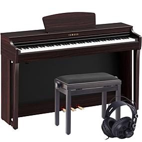 Yamaha CLP-725 Paquet de Piano Numérique en Bois de Rose Foncé