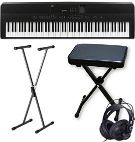 Kawai ES-520 Piano Numérique Noir avec X-support, X-banc et Écouteurs