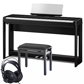 Kawai ES-520 Paquet de Piano Numérique Noir Complet avec Banc et Écouteurs