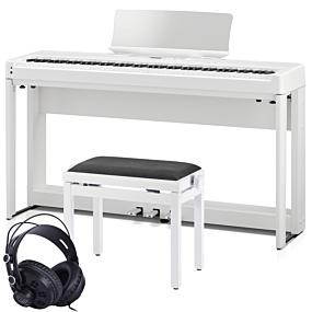 Kawai ES-520 Paquet de Piano Numérique Blanc Complet avec Banc et Écouteurs