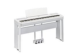 Yamaha P-515 Piano Numérique Blanc avec Pédale Triple et Support (LP-1 + L-515)