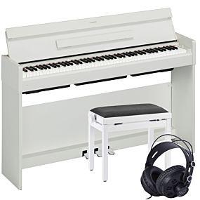 Yamaha Arius YDP-S34 Paquet de Piano Numérique Blanc