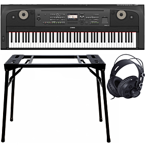 Yamaha DGX-670 Portable Grand Schwarz + Keyboard-ständer (DPS-10) & Kopfhörer