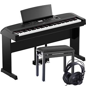 Yamaha DGX-670 Schwarz Set
