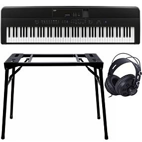 Kawai ES-520 Schwarz + Keyboard-ständer (DPS-10) & Kopfhörer