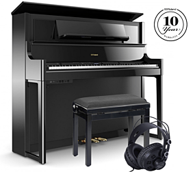 Roland LX708 Digitalpiano Schwarz Poliert Set