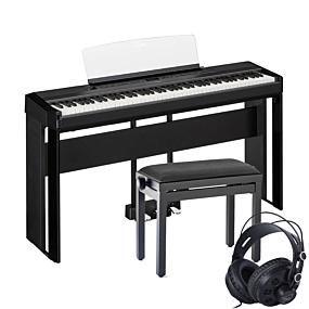 Yamaha P-515 Stage-Piano Schwarz - Komplettes Set-Up mit Klavierbank und Kopfhörern
