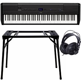 Yamaha P-515 Schwarz + Keyboard-ständer (DPS-10) & Kopfhörer