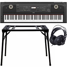Yamaha DGX-670 Portable Grand Black + Stand (DPS10) & Headphones