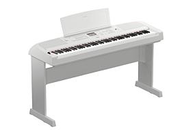 Yamaha DGX-670 Hvid inkl. L-300 stativ