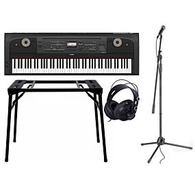 Yamaha DGX-670 Sort + Stativ (DPS10) & Hovedtelefoner + Mikrofonpakke (SDM50)
