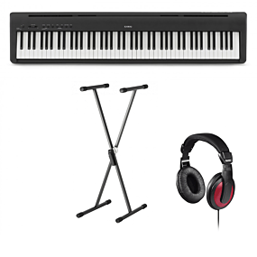 Kawai ES-110 Sort Digital Piano + Stativ (SKS 01) + Hovedtelefoner (Hama)