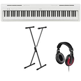 Kawai ES-110 Hvid Digital Piano + Stativ (SKS 01) + Hovedtelefoner (Hama)