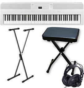 Kawai ES-520 White Digital Piano with X-Stand, X-Bench and Headphones