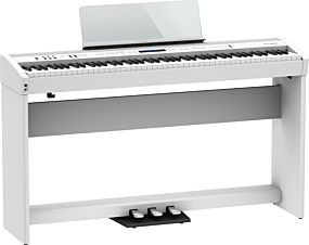 Roland FP-60X White Digital Piano with Complete Setup (KSC-72 + KPD-90)