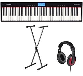 Roland GO:PIANO (GO-61P) + Stand (SKS 01) + Headphones (Hama)