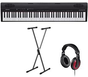 Roland GO:PIANO (GO-88) + Stand (SKS 01) + Headphones (Hama)