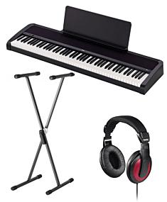 Korg B2 Black Digital Piano Package (SKS 01+Hama)
