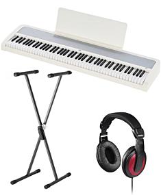Korg B2 White Digital Piano Package (SKS01+Hama)