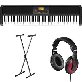 Korg XE20 Digital Ensemble Piano + Stativ (SKS 01) + Hovedtelefoner (Hama)