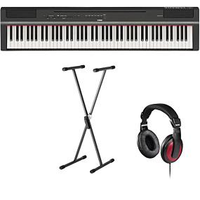 Yamaha P-125 Sort Digital Piano + Stativ (SKS 01) + Hovedtelefoner (Hama)