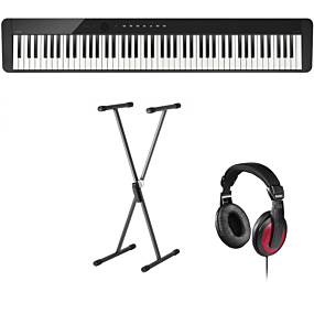 Casio Privia PX-S1000 Sort Digital Piano + Stativ (SKS 01) + Hovedtelefoner (Hama)