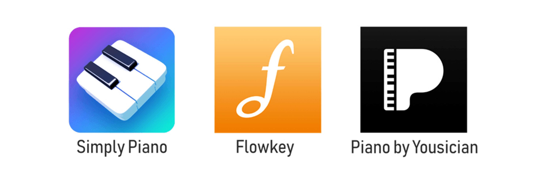 Sammenligning af forskellige apps til at lære klaver