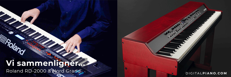 Vi sammenligner Nord Grand og Roland RD-2000