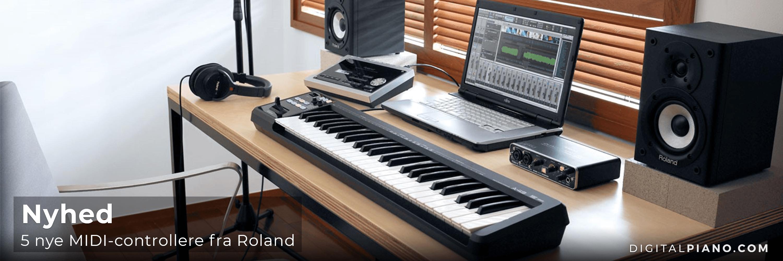 Vi præsenterer 5 nye MIDI-controllere fra Roland