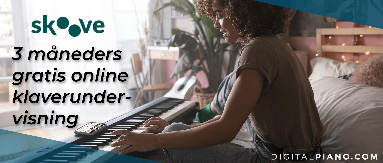 3 måneders gratis online klaverundervisning!
