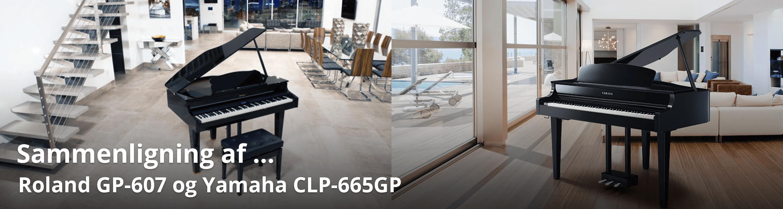 Vi sammenligner Yamaha CLP-665GP og Roland GP-607