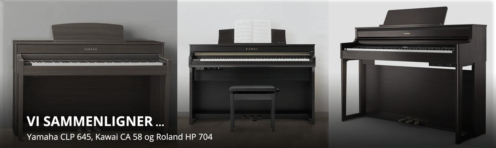 Vi sammenligner CA 58, CLP 645 og HP 704