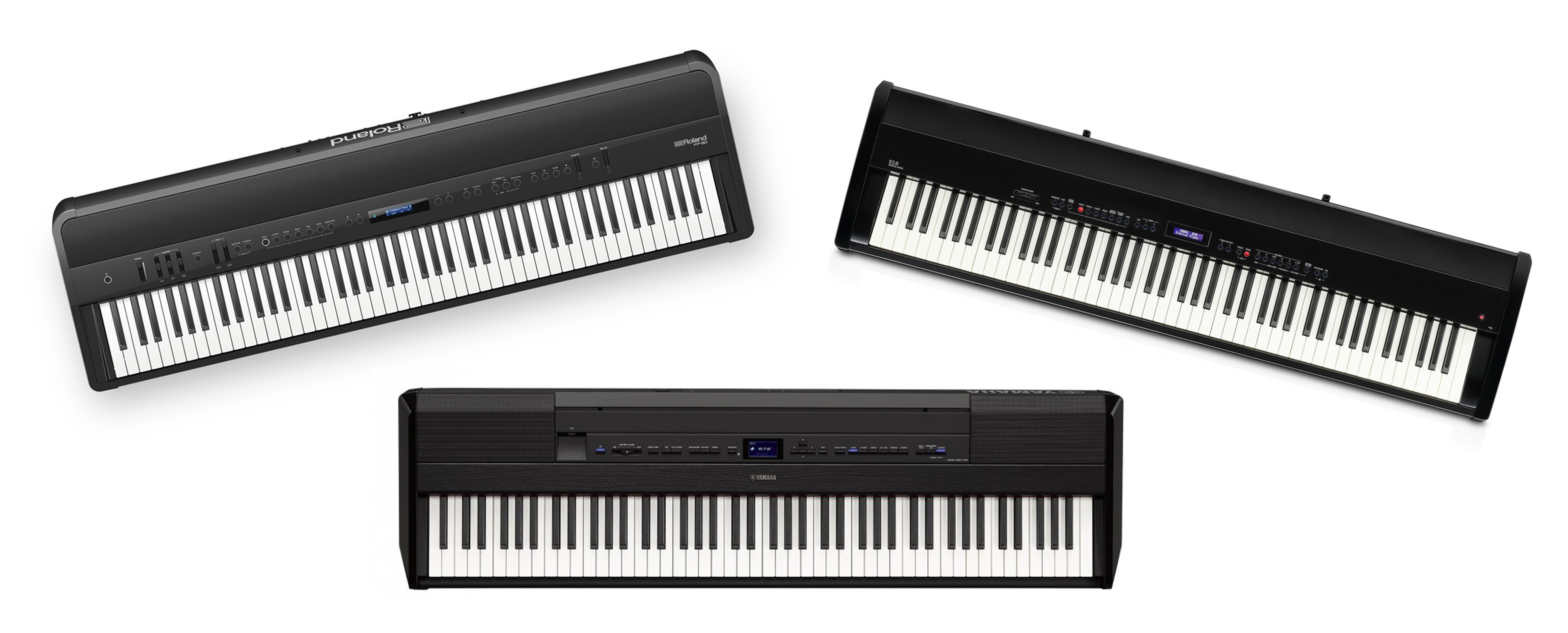 Roland FP-90, Yamaha P-515 ja Kawai ES-8: keikkapianovertailu