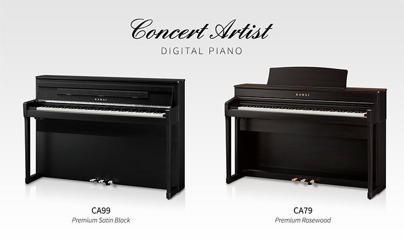 Kawai on ilmoittanut uusista Concert Artist-sarjan CA79- ja CA99-digitaalipianoista!