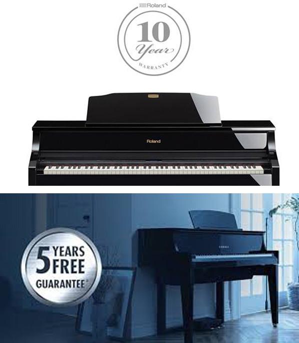 Kuinka varmistaa takuu Rolandin tai Yamahan pianoille