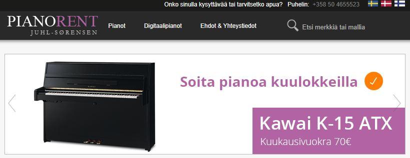 Pianorent.fi - Vuokraa piano!
