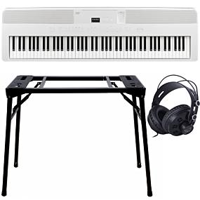 Kawai ES-520 Blanc + Support (DPS-10) & Écouteurs