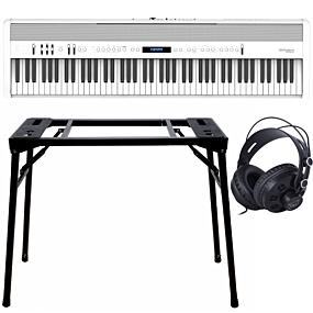 Roland FP-60X Blanc + Support (DPS-10) & Écouteurs