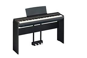 Yamaha P-125 Piano Numérique Noir avec Pédale Triple et Support (LP-1 + L-125)
