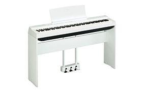Yamaha P-125 Piano Numérique Blanc avec Pédale Triple et Support (LP-1 + L-125)
