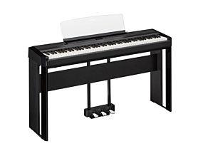 Yamaha P-515 Piano Numérique Noir avec Pédale Triple et Support (LP-1 + L-515)