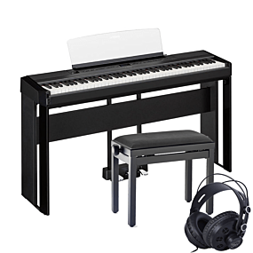 Yamaha P-515 Paquet de Piano Numérique Noir Complet avec Banc et Écouteurs