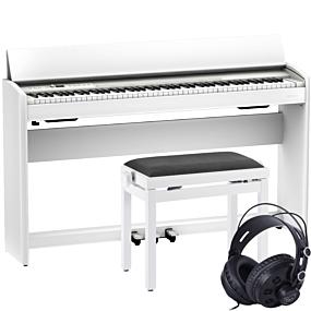 Roland F-701 Hvit Digital Piano Pakkeløsning