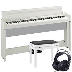 Korg C1 AIR Hvit Digital Piano Pakkeløsning