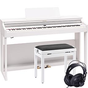 Roland RP-701 Hvit Digital Piano Pakkeløsning