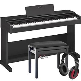 Yamaha YDP-103 Svart Digital Piano Pakkeløsning